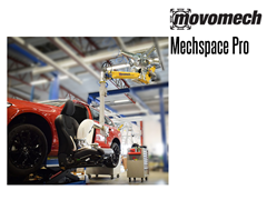 The pillar mounted Mechspace Pro™ 70P can be fitted with a mobile platform, making it easy to move between different workstations with a forklift