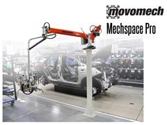The  Mechspace Pro™ Handles loads up to 330 lbs.
