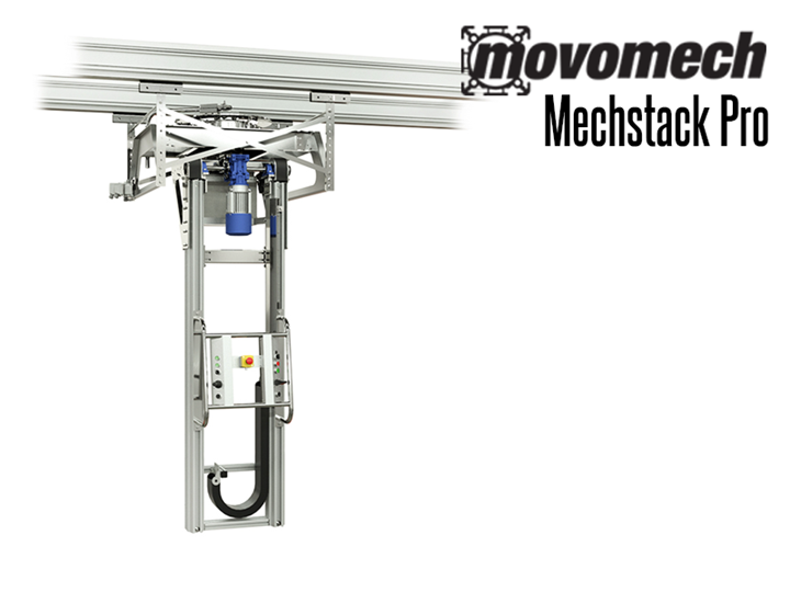 The Mechstack Pro™ is a powerful electrically powered industrial lifting manipulator used for moving heavy sheet components and stacking loads of up to 1400 lbs.