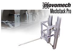 The Mechstack Pro is controlled and steered with a joystick via a frequency converter, providing a continuously variable and synchronous lifting speed