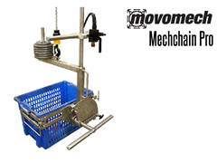 The Mechchain is an ergonomic frequency controlled chain hoist used for professional lifting, moving, rotation, positioning and loading.