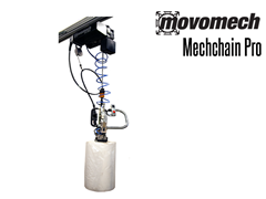 The Mechchain's frequency controls give a progressive lifting speed that is controlled with a joystick.
