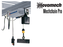 The Mechchain combines good control with high precision, with lifting speeds of up to 16m/min. (17 yards/min.)