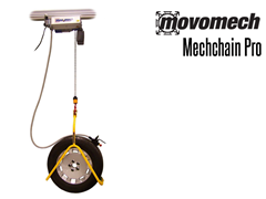 The Mechchain has low installation height:  suitable for applications where well controlled and precise movement is required.