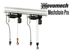 The Mechchain  has an optional remote control, allowing users access distance as necessary