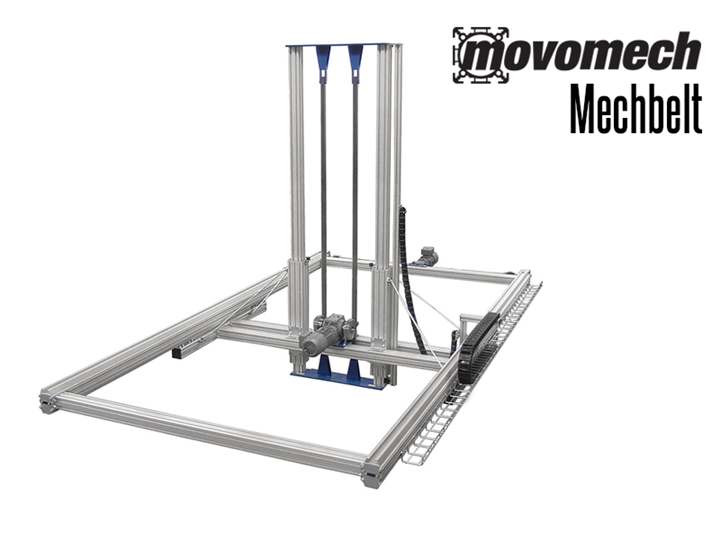 The Mechbelt is a smart belt-driven linear unit for 1, 2 or 3-axle linear drive movements up to a length of 45 feet in both horizontal and vertical directions.