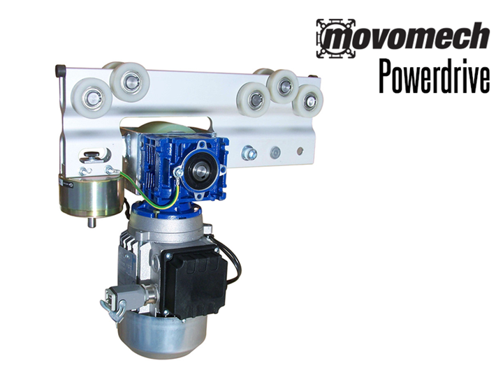 The Movomech Powerdrive™ is an electric drive unit for the Mechrail system.