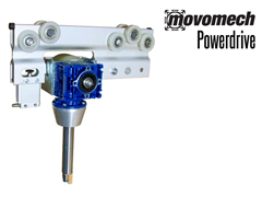 The Movomech Powerdrive™ is an electric drive unit for the Mechrail system, integrated into the rail system trolleys.