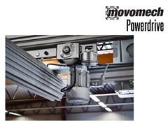 When heavy loads need to be kept in motion, or when movement is needed over large work areas, the Mechrail™ crane system can be advantageously fitted with Powerdrive drive units.