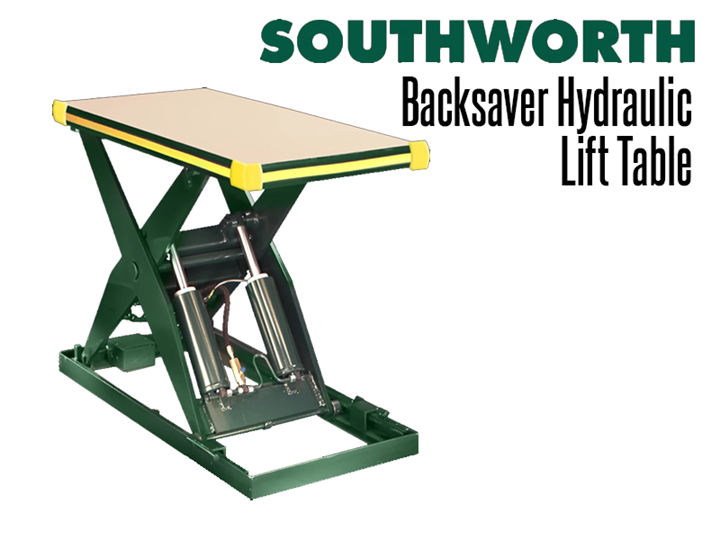 Backsaver Hydraulic Lift Tables are in use throughout world for machine feeding, work positioning, assembly, order picking, pallet loading, and a wide range of other applications.
