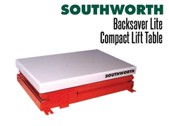 Backsaver Lite Compact Lift Tables are specifically designed for those applications involving lighter loads of up to 1,000 lbs.