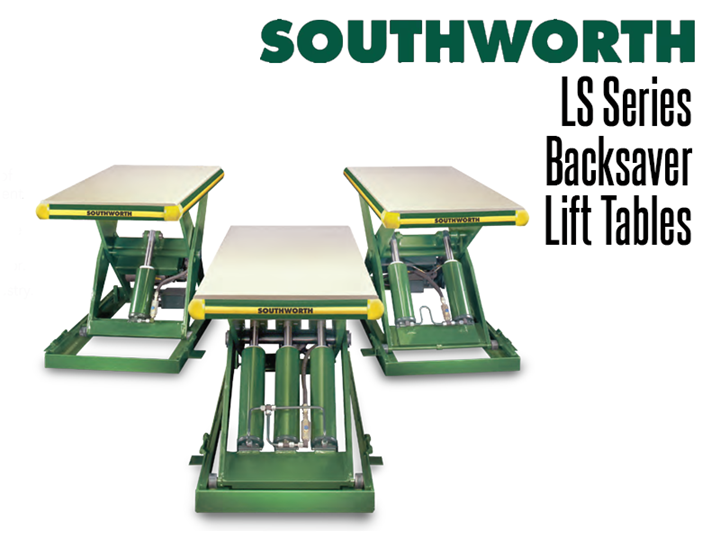 The LS Series Backsaver Lift Tables are available in a variety of basic sizes and capacities with a range of power options, controls, tabletops and base configurations to provide a nearly unlimited choice of variations.