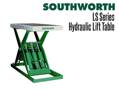 """The LS Series Backsaver Lift Tables can lift to heights up to 56"""" and weight capacities up to 6,000 lbs!"""