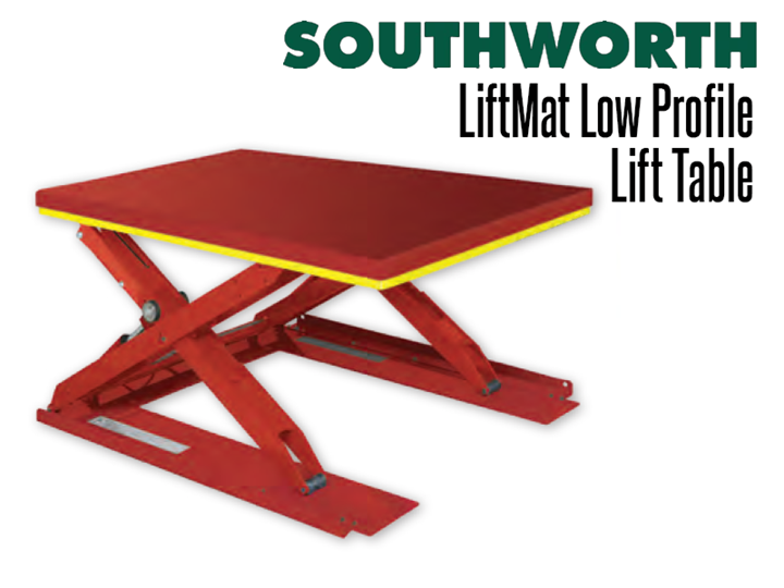 LiftMat low profile lift tables allow four sided accessibility without the expense of digging a pit.