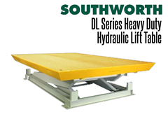 DL Series Heavy-Duty Hydraulic  Lift Tables shown in lowered position