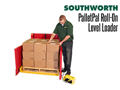 Narrow side panels allow workers to step up close to the load