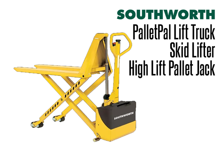 The PalletPal Lift Truck is a high lifting pallet jack and skid lifter for the transporting and positioning of heavy duty pallets or skids.