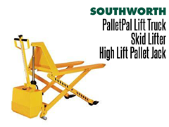 The PalletPal Lift Truck and Palletizer is the ideal solution when using open bottom pallets or skids.