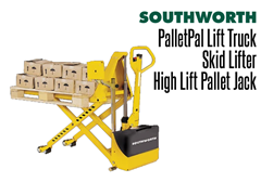 The high lift pallet jack/skid lifter can maneuver easily over industrial services