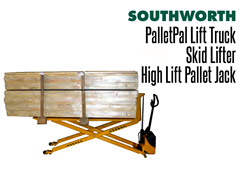 A PalletPal Lift Truck has an optional extended fork model to handle long loads
