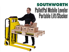 The PalletPal Mobile Leveler can be used a mobile pallet leveler for loading and unloading