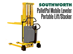 The PalletPal Mobile Leveler provides adjustable height and portability into a single machine.