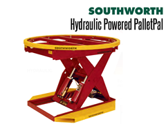When loads, weights, pallet sizes or product dimension vary greatly, a Powered PalletPal Level Loader / Pallet Lift with total operator control is the solution.