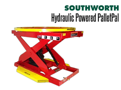 Powered PalletPal Level Loaders/Pallet Lifts come in 2000 or 4000 lb capacities