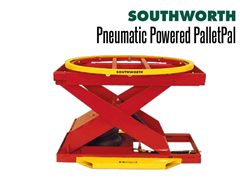 Powered PalletPal Level Loaders/Pallet Lifts come in hydraulic and pneumatic configurations