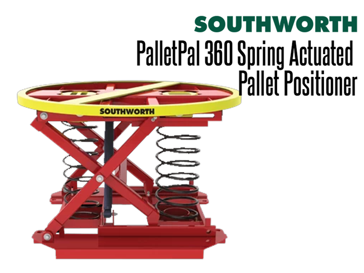 The PalletPal 360 fully automatic spring actuated pallet positioner is an automatic, self-leveling pallet leveler that makes loading and unloading pallets easier, safer and faster.