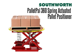 The PalletPal 360 can handle loads up to 4500 lbs.