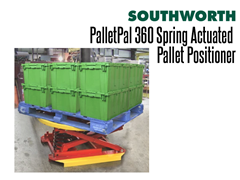 The PalletPal 360 is ideal for leveling pallets with crates or totes