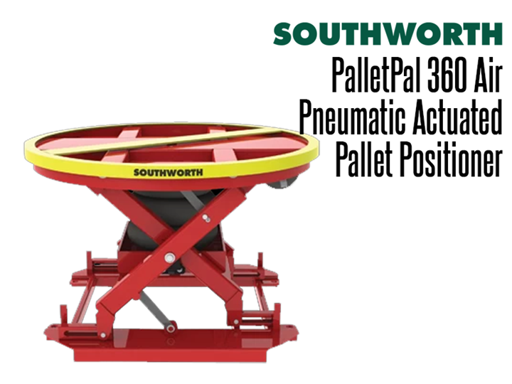 The PalletPal 360 Air Level Loader is a pneumatic pallet leveler that makes loading and unloading pallets safe, easy and fast.