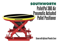 The PalletPal 360 Air shown with optional phenolic cover, this keeps dust from collecting under the unit