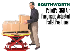 The PalletPal 360 Air automatically adjusts its height as boxes are added or removed