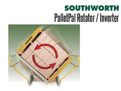 "PalletPal Pallet Rotators are able to handle loads measuring up to 48"" x 48"" x 84"" High"