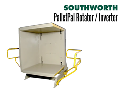PalletPal Pallet Rotators allow access to the bottoms of loads without restacking