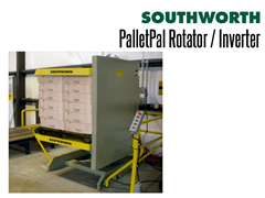 PalletPal Rotators allow the user to replace damaged goods at the bottom of a load