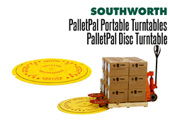 Ideal for areas where more complex lifting equipment can't be used, turntables are inexpensive and durable. Goods are simply placed on the turntable and then manually rotated to avoid stretching across the load.