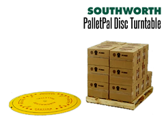 Loads can be rotated for faster, safer and easier access with the PalletPal Disc