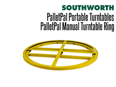 The PalletPal Manual Turntable Ring is not hand pallet truck accessible.