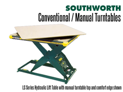 LS Series Hydraulic Lift Table with manual Turntable top and Comfort Edge