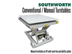 Manual Turntable on Lift with Semi-Live Portability Option