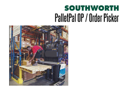 The PalletPal OP features a built-in turntable with anti-friction bearings allows operators to spin the load so that they never have to reach across the pallet.