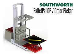 PalletPal OP Order Picker Shown with a Picking Lift