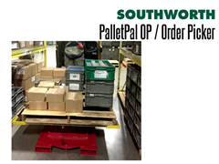 PalletPal OP Order Picker Lowers Automatically as Items are Added to the Pallet