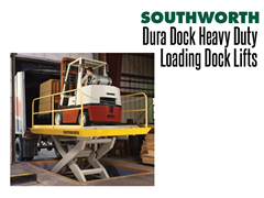 Dura Dock Heavy Duty Loading Dock Lifts can be used with fork lift trucks