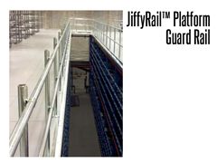 JiffyRail™ guard rail system is industrial strength for indoor or outdoor use