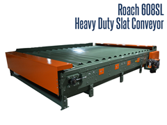 Built to handle multiple 10 foot, 30 pound axles, this slat conveyor can convey a 600 pound live load.