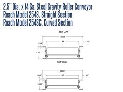 Roach Model 254S Conveyor Roller Schematic